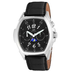 Joshua & Sons Men's Black Multi-function Strap Watch