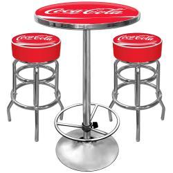 Coca-Cola Pub Table and Bar Stools Set