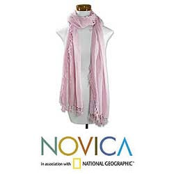 Cotton 'Pink Pastel' Scarf (Guatemala)