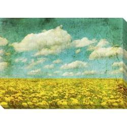 'Dandelion Field' Giclee Canvas Art