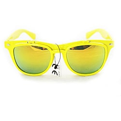 Women's Yellow Glassy Fashion Sunglasses