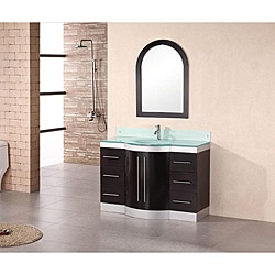 Design Element Tuscany 48-inch Single Sink Glass-top Vanity