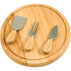 KitchenWorthy Rubberwood Board and Serving Sets (Pack of 10)