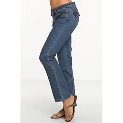 Rue Blue Women's Euro Wash Straight Leg Jeans