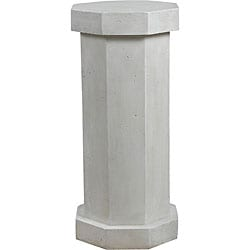 Bindy Roman White Outdoor Pedestal
