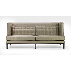 Modern Champagne Satin Fabric Sofa