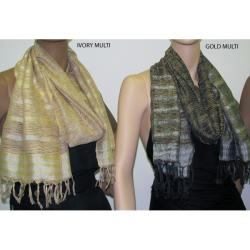Multi-stripe Metallic Scarves (Pack of 2)