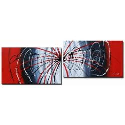 'Sound Waves Hand Painted' 2-piece Art Set