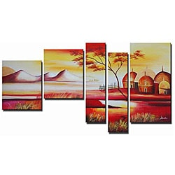 'Floating Paradise Hand Painted' 5-piece Art Set