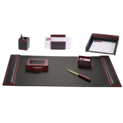 Dacasso Wood/ Leather 7-piece Desk Set 7233996