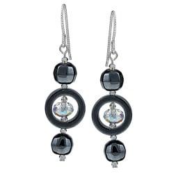 MSDjCASANOVA Hematite and Crystal Earrings