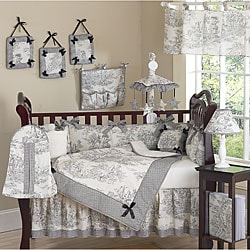 French Toile 9-piece Crib Bedding Set
