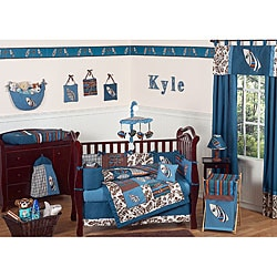 Blue Surf 9-piece Crib Bedding Set
