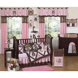 Sweet Jojo Designs Pink Teddy Bear 9-piece Crib Bedding Set 7242259