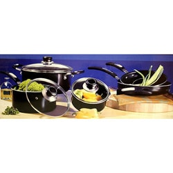 Oster Black 8-piece Aluminum Cookware Set