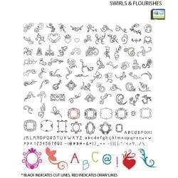 Craftwell eCraft 'Swirls and Flourishes' SD Image Card