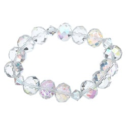 Crystale Crystal and Glass Bead Stretch Bracelet