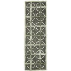 Safavieh Handmade Eternal Deco Grey/ Green N. Z. Wool Runner (2'6 x 8')