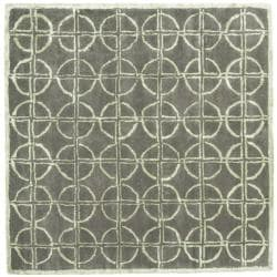 Safavieh Handmade Soho Eternal Deco Grey/ Green N. Z. Wool Rug (6' Square)