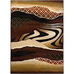 Mandara Beige Abstract Rug (5'3 x 7'6)