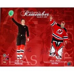 Steiner Sports Martin Brodeur/ Patrick Elias Dual Signed 'An Evening to Remember' Collage
