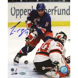 New York Rangers Scott Gomez Shot Vs Devils 16x20 Autographed Photo