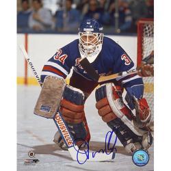 Steiner Sports John Vanbiesbrouck Blue Jersey Signed 16x20 Photo