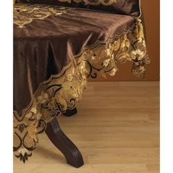 Square Applique Chocolate Tablecloth