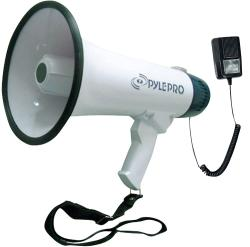 Pyle Megaphone with Recording Function/ Detachable Rechargeable Mic
