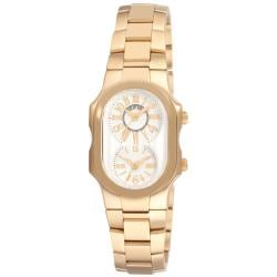 Philip Stein Women's 1GP-MWG-SSGP 'Signature' Yellow Goldtone Watch
