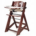 Height Right Mahogany High Chair with Tray