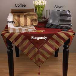 Striped Classique Square Table Topper 40x40