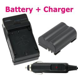 INSTEN Compatible Lithium-ion Battery/ Battery Charger for Olympus EVOLT E-510