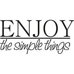 Design on Style Decorative 'Enjoy the Simple Things' Vinyl Wall Art Quote