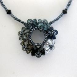 Black Crystal Circle of Joy Classic Necklace