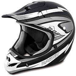 Raider Adult Silver MX 3 Helmet