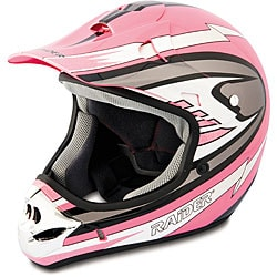 Raider Adult Pink MX 3 Helmet
