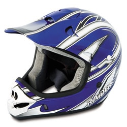 Blue Raider MX3 Light Thermoplastic Youth Helmet with Adjustable Visor