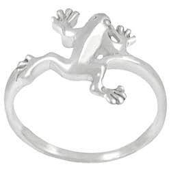 Journee Collection Sterling Silver Jumping Frog Ring