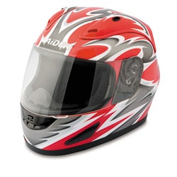 Raider Red Full Face Street Helmet 7422292