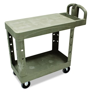 Rubbermaid Commercial Flat Shelf Utility 2-Shelf Cart
