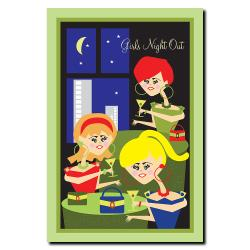 Grace Riley 'Girls Night Out' Canvas Art