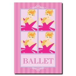 Grace Riley 'Ballet in Pink II' Canvas Art