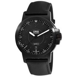 Oris Men's 'BC3 Advanced Day Date' Black Strap Automatic Watch