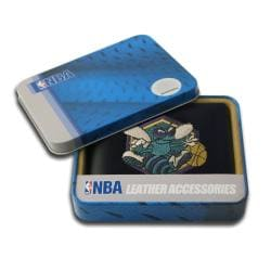 New Orleans Hornets Men's Black Leather Bi-fold Wallet
