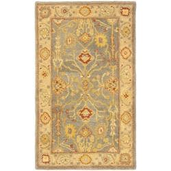 Safavieh Handmade Oushak Slate Blue/ Ivory Wool Runner (2'3 x 4')