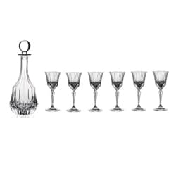 Adagio 7-piece Crystal Liquor Set