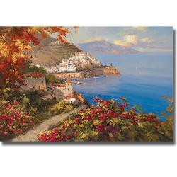 Rosa Chavez and Leon Ruiz 'La Baia Delle Amore' Canvas Art