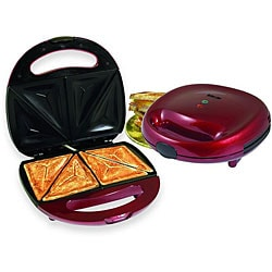 Better Chef IM-288R Red Sandwich Panini Maker Compact Grill