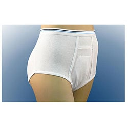 Inspire Premium Cotton Protective Briefs with Pocket for Disposable Liner (Case of 100)
